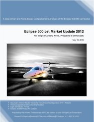 Eclipse 500 Jet Market Update 2012 - Eclipse 500 Owners