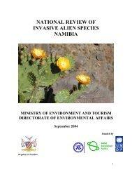 national review of invasive alien species namibia - EcoPort