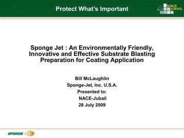 Sponge Jet - NACE Jubail Section