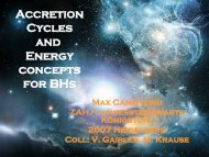 Accretion Cycles and Energy concepts for BHs - Landessternwarte ...
