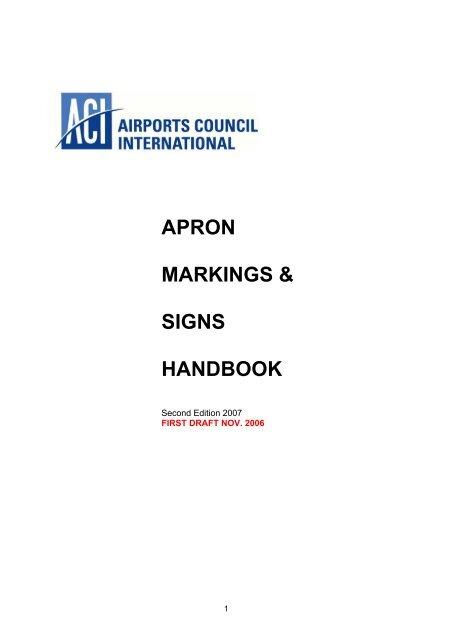 APRON MARKINGS & SIGNS HANDBOOK - ACI