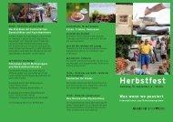 Herbstfest - Martin Stiftung