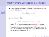 Proof of Uniform Convergence of the Iterates