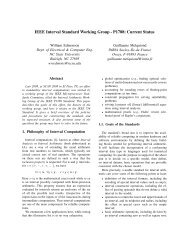 IEEE Interval Standard Working Group - P1788: Current Status - LRI