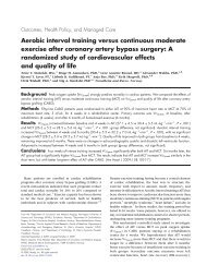 Aerobic interval training versus continuous moderate exercise after ...