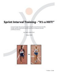 "Sprint Interval Training - ""It's a HIIT - Strength Coach.com"