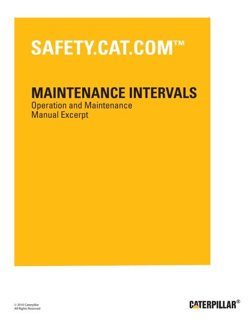 3508 3512 And 3516 Generator Sets Maintenance Intervals
