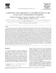 Contribution of disc degeneration to osteophyte formation in the ...