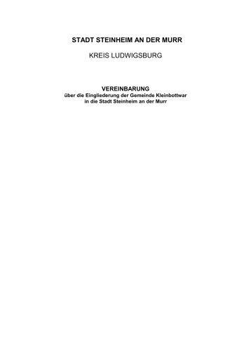 Eingliederungsvereinbarung - Stadt Steinheim an der Murr