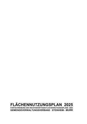 FLÄCHENNUTZUNGSPLAN 2025 - Stadt Steinheim an der Murr