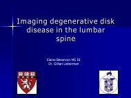 Imaging degenerative disk disease in the lumbar spine