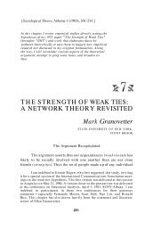 THE STRENGTH OF WEAK TIES: A NETWORK ... - CiteSeerX