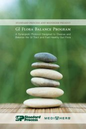 GI Flora Balance Program Guide - Standard Process