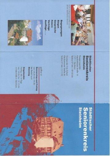 Informationsbroschüre - Stadt Steinheim an der Murr