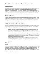 Sexual Misconduct and Intimate Partner Violence Policy - Central ...