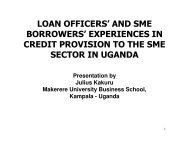 and sme borrowers - Makerere University Business School