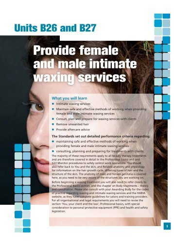 Provide female and male intimate waxing services - Pearson Schools
