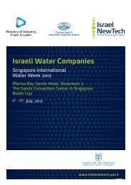 Objectives / Target companies - Israel Trade Commission