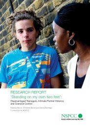 'Standing on my own two feet': disadvantaged teenagers, intimate ...