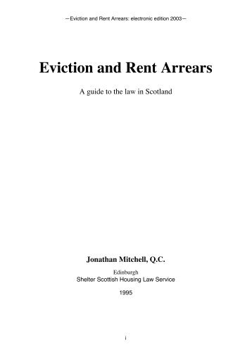 Eviction and Rent Arrears - Jonathan Mitchell QC
