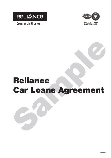 Mortgage Loan Agreement - Reliance Commercial Finance