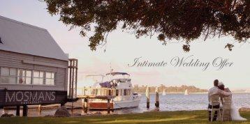 Intimate Wedding Offer - Mosmans Restaurant