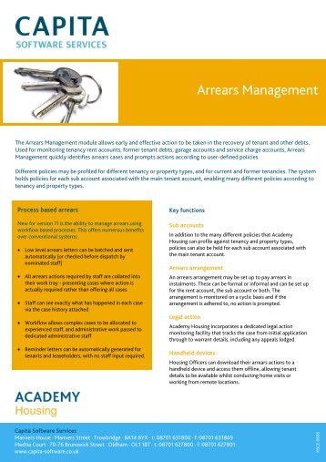 Arrears Management - Capita Software and Managed Services