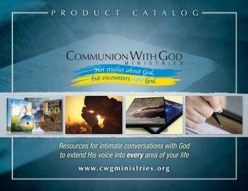 P R O D U C T C A T A L O G Resources for intimate conversations ...