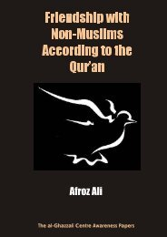 Friendship with Non-Muslims According to the Qur'an - Al-Ghazzali ...