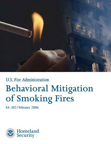 Behavioral Mitigation of Smoking Fires - US Fire Administration