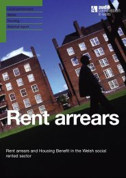 Rent arrears and Housing Benefit in the Welsh ... - Audit Commission