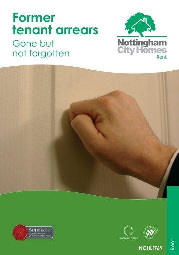 Former tenant arrears - Nottingham City Homes