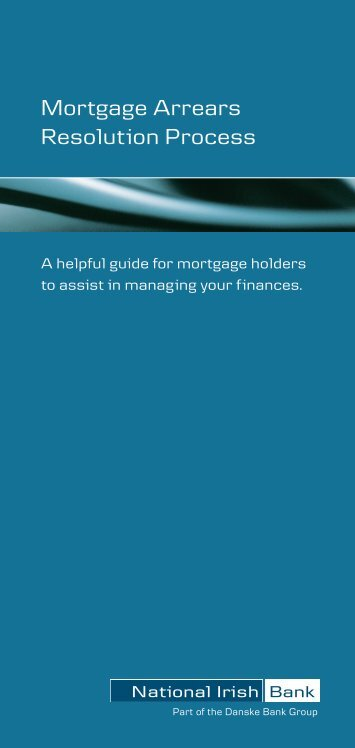 Mortgage Arrears Resolution Process - National Irish Bank