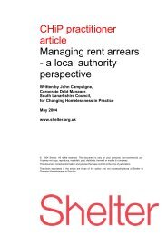 Managing rent arrears - a local authority perspective - Shelter Scotland