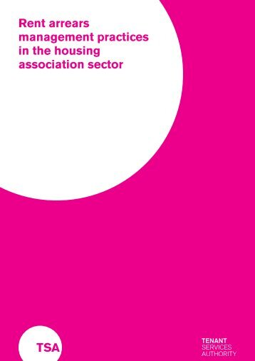 Rent arrears management practices in the housing association sector