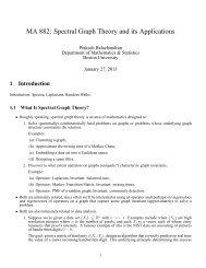 Lecture 1 - Mathematics & Statistics - Boston University