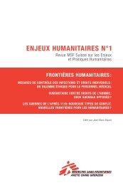 Enjeux humanitaires no. 1 - Médecins Sans Frontières Suisse