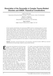 Dissociation of the Personality in Complex Trauma-Related ...
