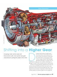 Shifting into a Higher Gear - Society of Manufacturing Engineers