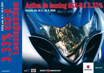 Action de leasing GSX-R à 3.33% - mueller-2rad.ch