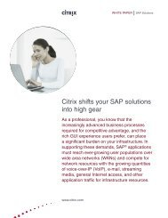 Citrix shifts your SAP solutions into high gear