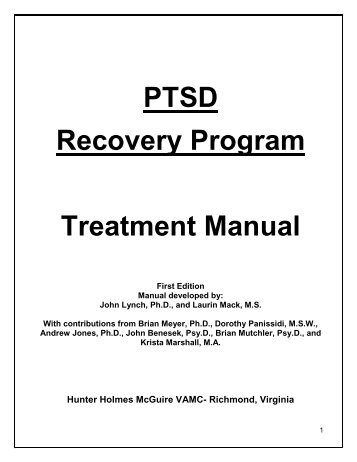 PTSD Recovery Group-Client Manual