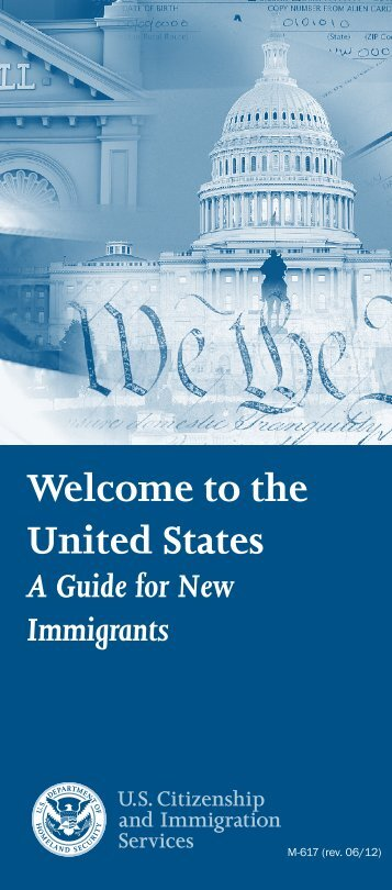 Brochure - Welcome to the United States - uscis
