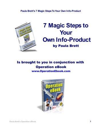 Paula Brett's 7 Magic Steps To Your Own Info-Product - Omar Martin