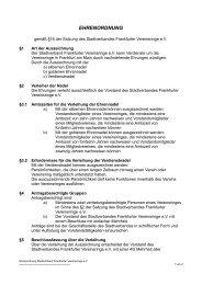 EHRENORDNUNG - Stadtverband Frankfurter Vereinsringe eV