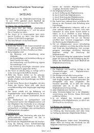 SATZUNG - Stadtverband Frankfurter Vereinsringe eV
