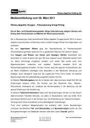 Medienmitteilung vom 28. März 2011 - Weiss+Appetito