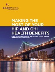 Making the Most of Your hiP anD ghi health Benefits - EmblemHealth