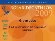 Green Jobs: Find Your Place in the New Green ... - Solar Decathlon