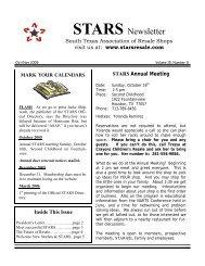 Oct/Nov 2005 Issue - STARS - South Texas Association of Resale ...